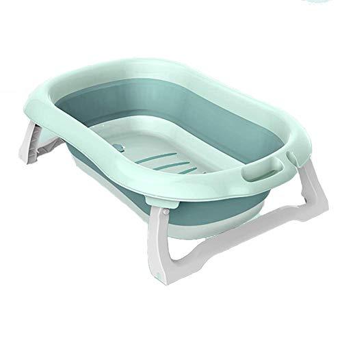 Guotail Plegable bebé bañera-portátil no Slip Ducha Lavabo Nuevo Nacido de Gran tamaño/Puede Sentarse y tumbarse baños de Asiento/baño Cubo,Blue
