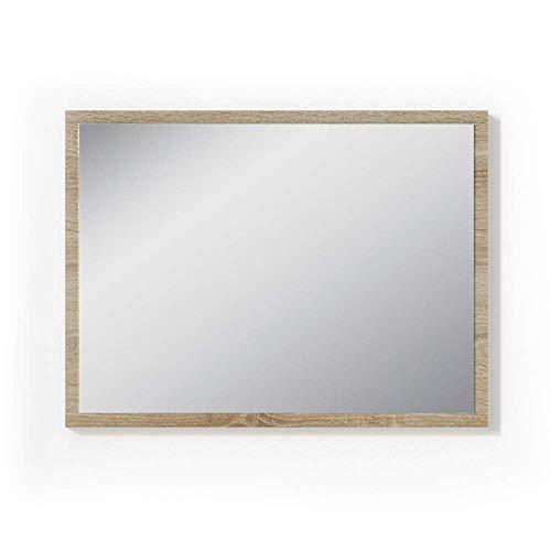 Vicco Badezimmerspiegel Badmöbel 45 x 60 cm - Spiegel Hängespiegel Badspiegel Sonoma Weiß