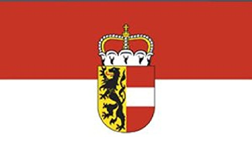 Flagge/Fahne SALZBURG mit Wappen Staatsflagge/Landesflagge/Hissflagge mit Ösen 150x90 cm, gute Qualität