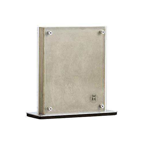 Schmidt Brothers, bloque magnético de hormigón, almacenamiento universal para hasta 10 cubiertos, hormigón y acrílico