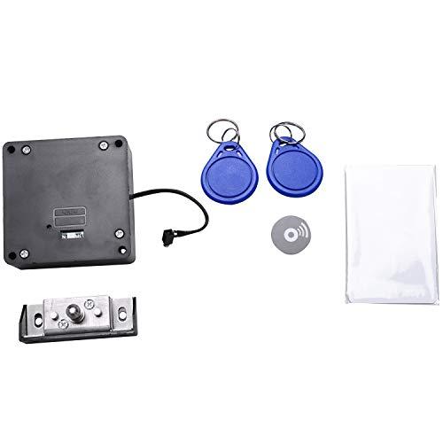 Fransande - Cerradura electrónica inteligente RFID para armario, sin agujeros, fácil instalación, muebles, zapatero, cajón, cerradura de puerta con dos tarjetas