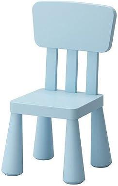 IKEA MAMMUT Children's chair, light blue indoor/outdoor