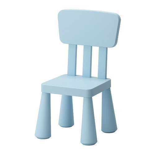 IKEA MAMMUT Children's chair, light blue indoor/outdoor