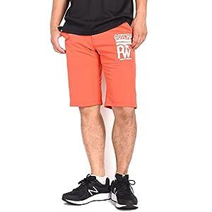 【2021春夏】(ガッチャゴルフ) GOTCHA GOLF ショートパンツ(ハーフパンツ) ロゴ刺繍プリント 撥水加工 吸水速乾 ドライエアーショーツ 212GG1904 (M, 045(オレンジ))