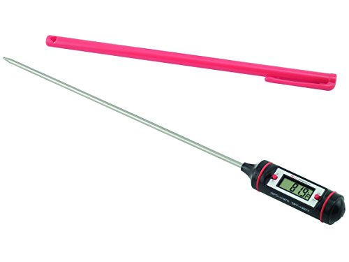 General Tools DT310LAB Digital Thermometer, 8 Inch Extra Long Stainless Steel Probe, -58 to 302 degrees Fahrenheit (-50 to 150 degrees Celsius) Range with High and Low Alarms, Auto-Off