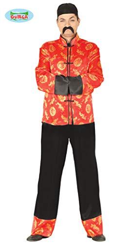 Guirca Rudy Disfraz Chino Mandarina, Color Rojo, Talla única, 80666