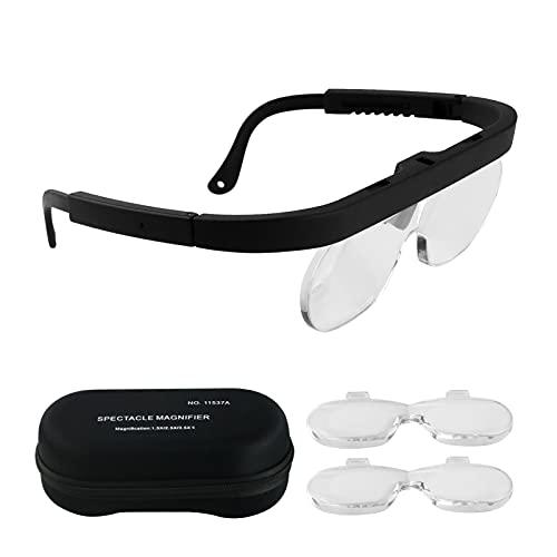 Lupa, lupa de 1,5/2,5/3,5X con cabeza de lupa de joyería montada con múltiples lentes para hacer relojes, reparación de aparatos electrónicos