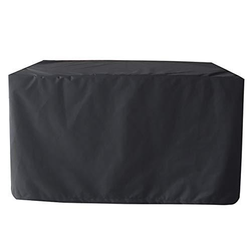 XXYANZI Funda para Muebles de Jardín 231x231x30cm, Rectangular Cubierta de Muebles de Mesas Impermeable a Prueba de Viento, para Mesa Silla Jardin Terraza. - Negro
