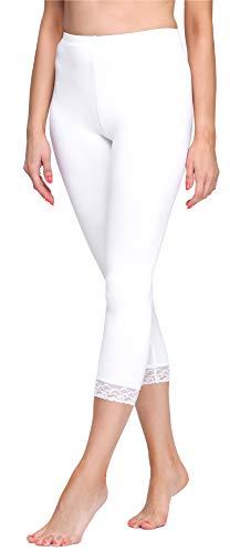 Merry Style Damen 3/4 Leggings MS10-290(Weiß, M)