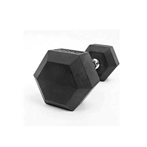 ZJJ Manubri 1pcs Esagonale gommato manubri Palestra Dedicato Fisso Muscle Fitness Braccio di addestramento manubri Uomo di buona qualità Porta Pesi e bilancieri (Dimensione : 3kg)