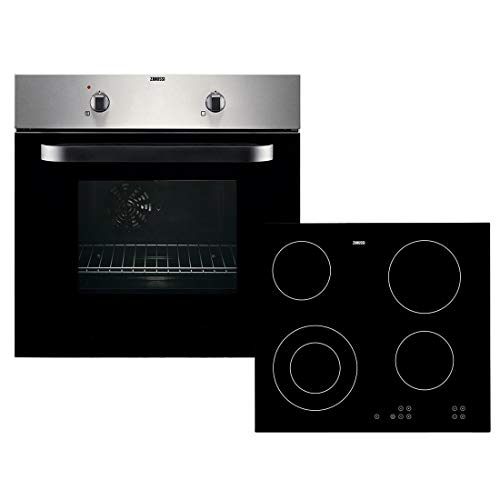 Zanussi ZPVF4130X 600mm Built-in Single Electric Oven + Ceramic Hob