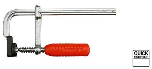 Schraubzwinge Spannzwinge Geschmiedeter Stahl 250 X 80 mm Spannweite Leimzwingen Schraubknecht Schnellklemmen