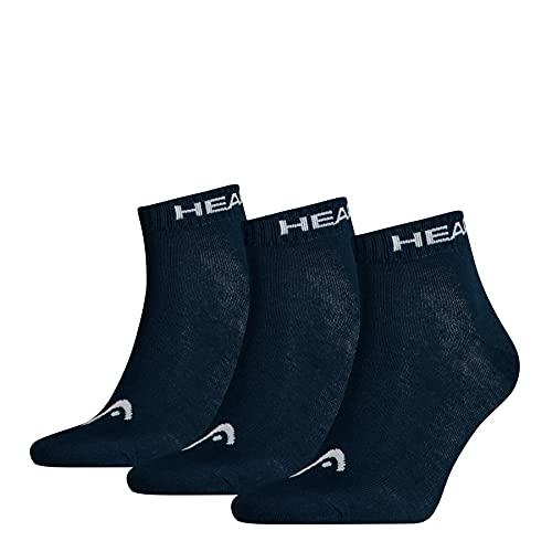 HEAD Herren Quarter 3p Sportsocken, Blau (Navy 321), 43/46 (Herstellergröße: 043) (3er Pack)
