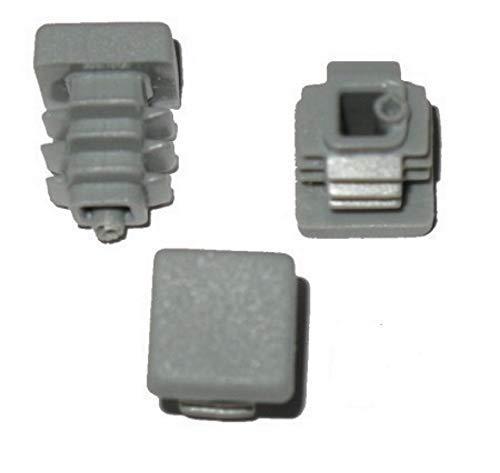 5 x Bouchon à lamelles carré rohrstopfen 15 x 15 mm (extérieur) Bouchon Gris