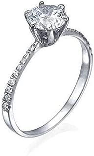 950 PLATINUM RING WITH 1.50 CT (CEN: 1.30 CT) NATURAL EGL CERTIFIED ROUND DIAMOND ENGAGEMENT/WEDDING RING I-J/VS