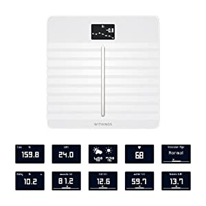 Withings Body Cardio – Premium Wi-Fi Body Composition Smart Scale, Tracks Heart Health, Vascular Age, BMI, Fat, Muscle & Bone Mass, Water %, Digital Bathroom Scale with App Sync via Bluetooth or Wi-Fi
