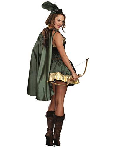 HNJing Erotische Reizwäsche Sexy Halloween Cosplay Kleidung Robin Hood Kostüm Cosplay für Mädchen Soldat Uniform Maskerade Kleider Party Kostüme Cosplay-XL