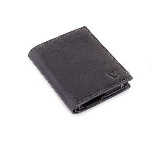 RONCATO Iron portafoglio uomo vera pelle con schermatura RFID Denim