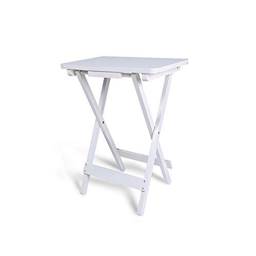 Pliante Petite Table carrée Bureau d'enfant Portable Simple Table de Chevet en pin Table de Loisirs de Jardin Blanc 18\