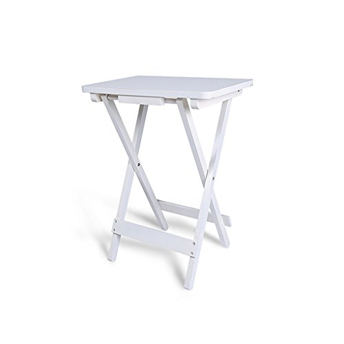 Pliante Petite Table carrée Bureau d'enfant Portable Simple Table de Chevet en pin Table de Loisirs de Jardin Blanc 18\
