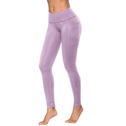 BurBurly Yoga Broek met Zakken - Tummy Control - Workout Sports Running Sweatpants Atletische Leggings met Zakken voor Vrouwen