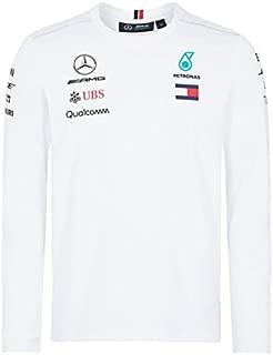 Mercedes Benz AMG Formula 1 Petronas White 2018 Long Sleeve Drivers T-Shirt