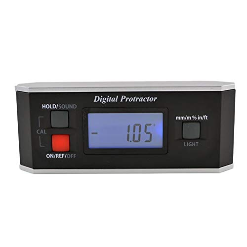 Level Winkelmesser Digitaler Winkelmesser Inklinometer Finder V Groove-Hintergrundbeleuchtung IP65 Wasserdicht Schwarz Precision Industrial Messgeräte