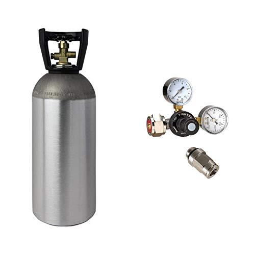 CO2 Druckminderer inkl. 2 kg CO2 Flasche geeignet für Quooker System Wassersprudler Sprudelsystem Sprudelgerät Sprudler