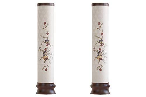 盆提灯 初盆 モダン 仏具 一対 セット 岐阜の誉れ シリーズ l167p 和花を添えて 和 提灯 仏壇 贈り物 (2本一対)