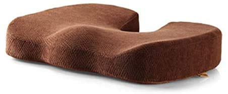 Foam Cushion, Waterproof car seat for Sciatica Hemorrhoids Coccyx Back Pain Relief, Suitable for Wheelchair Office Chair Recliner car seat,Brown