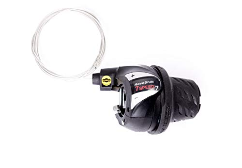 7 fach Shimano Revoshift Drehgriff Schalter Schaltung Fahrrad Shifter inkl. Schaltzug Kettenschaltung