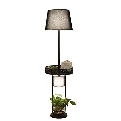 ZHDC® Stehlampe, Nordic Vintage Eisen Dekorationen Stehlampe American Country Wohnzimmer Schlafzimmer Studie Cafe Bar warme Beleuchtung Stehlampe