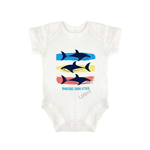 Lplpol SDS445 - Body de algodón para bebé y niñas de manga corta