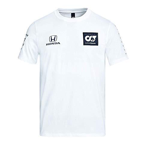[ ALPHA TAURI ] 2020 スクーデリア アルファタウリ ホンダ F1 Racing Team オフィシャル レプリカ チーム Tシャツ (S身幅53cm着丈69cm, ホワイト)