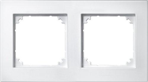 Merten 486219 M-PLAN-Rahmen, 2fach, polarweiß