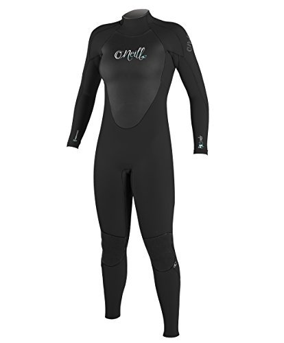 O'NEILL Wetsuits Womens 3/2 mm Epic Full Suit, Black/Black/Black, 12 by