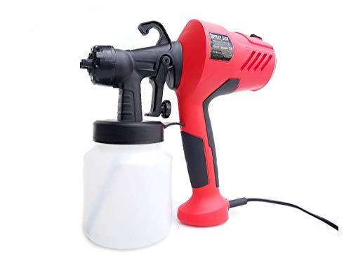 Officek 塗装 スプレー ガン 電動 塗装機 塗装スプレー 噴射量調節可能 取り外し可能な高圧ペイントスプレーガン 800ml 調整可能な空気およびペイントフロー制御