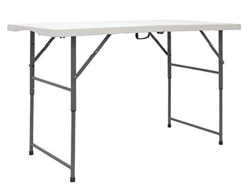 AMANKA Table de Jardin Pliante 120 x 60 cm - Hauteur réglable - 110kg Table à Manger Imperméable