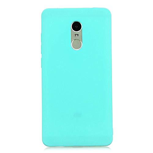 cuzz Funda para Xiaomi Redmi Note 4+{Protector de Pantalla de Vidrio Templado} Carcasa Silicona Suave Gel Rasguño y Resistente Teléfono Móvil Cover-Azul Claro