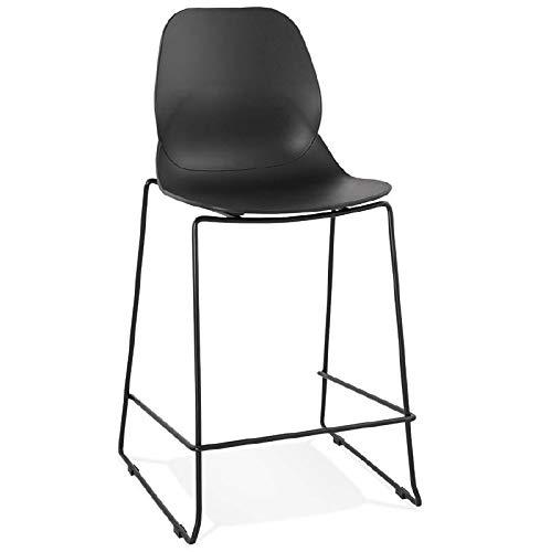 MK Bar-Stuhl Barhocker industrielle stapelbar Halbhohe Juliette Mini (schwarz)