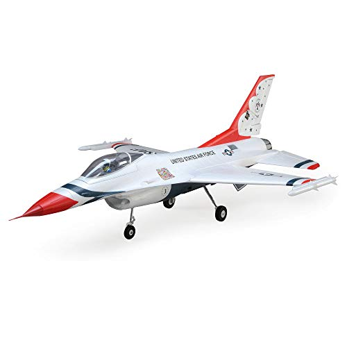 E-flite RC Airplane F-16 Thunderbirds 70mm EDF BNF Basic (Transmitter, Battery and Charger not Included) with AS3X and Safe Select, EFL78500