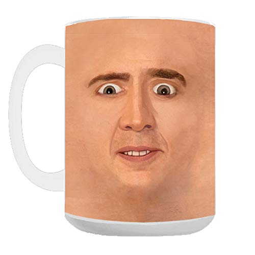Creepy Cage Face Coffee Mug (15oz)