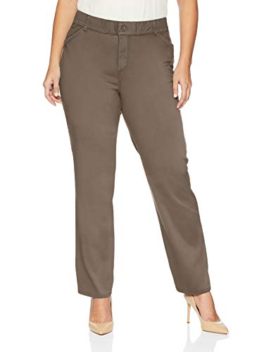 LEE Women's Plus-Size Relaxed-Fit All Day Pant, deep Breen, 20W Petite