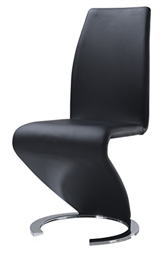 Global Furniture Dining Chair, Black PU
