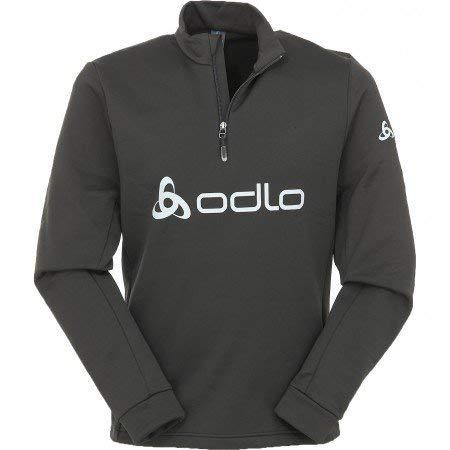 Odlo Damen Midlayer 1/2 Zip Logo LINE Pullover, Black, XS