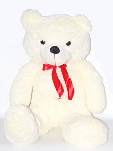 Bada Bing XL Teddy Bär Teddybär Plüsch ca. 95 x 63 cm Großes Kuscheltier Mit Roter Schleife Stofftier Geschenk Kinder Geburt Geburtstag Weihnachten 90