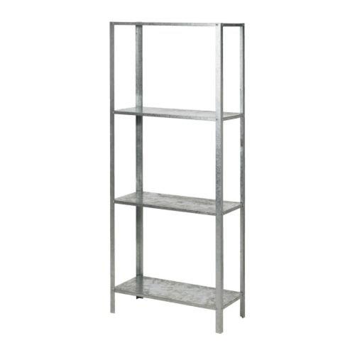 Ikea HYLLIS - Scaffale zincato, 60 x 27 x 140 cm