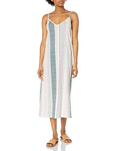 Roxy Damen Avila Beach Dress Kleid, North Atlantic True Stripes, X-Klein