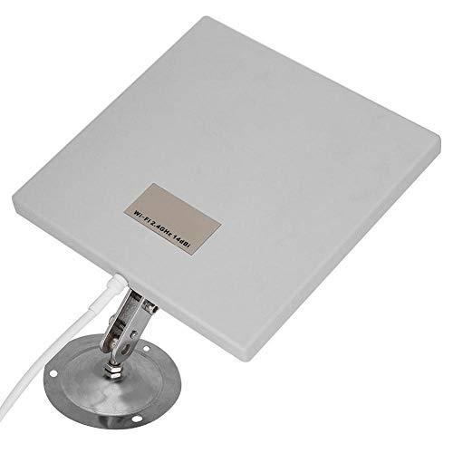 Diyeeni Antenne WiFi Panneau, antenne extérieure Panneau 14 dBi Extender WiFi à Gain élevé antenne réseau directionnelle à Longue portée, Durable et résistant aux intempéries