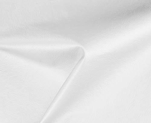 HAPPERS 1 Metro de Polipiel Especial Exterior para tapizar, Manualidades, Cojines o forrar Objetos. Venta de Polipiel por Metros. Diseño Náutica Color Blanco Roto Ancho 140cm